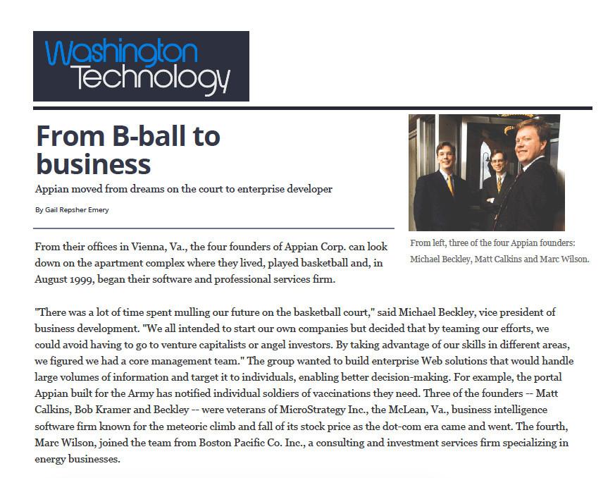 Appian - Washington Technology