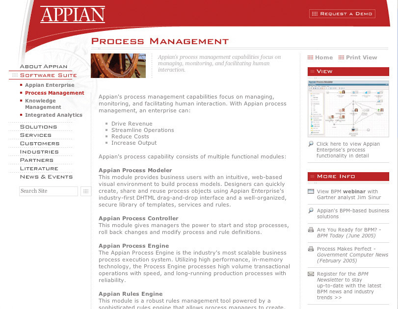 Appian - Website