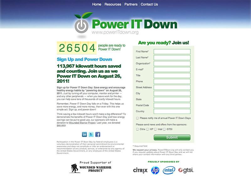 Citrix - Power IT Down Day Website