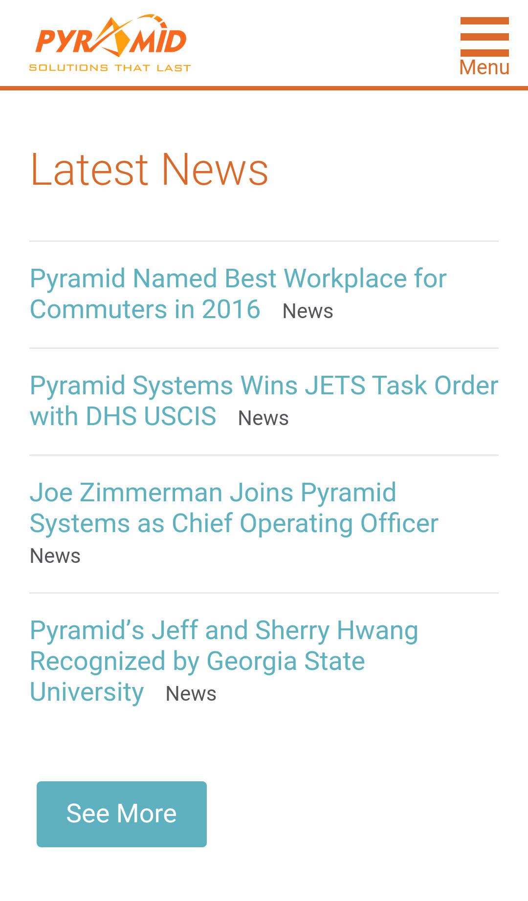 Pyramid - Mobile Website