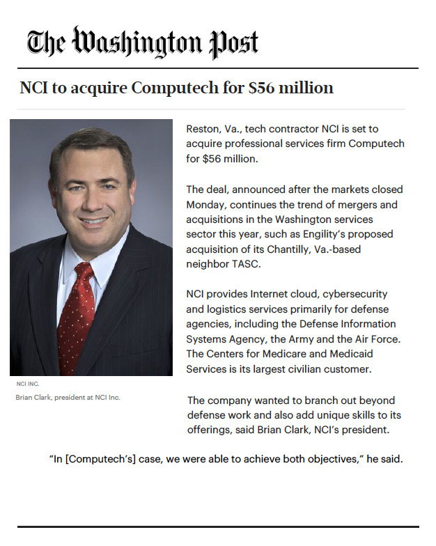 NCI - Washington Post Brian Clark Article